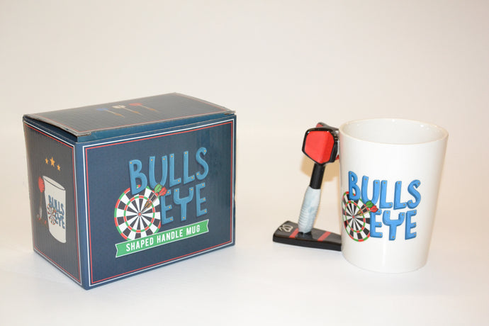 Bulls Eye Shaped Handle Mug