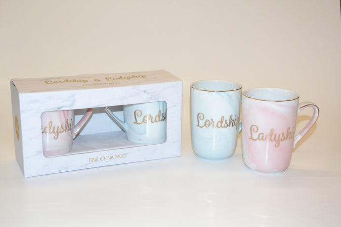 'Lordship' and 'Ladyship' Mugs