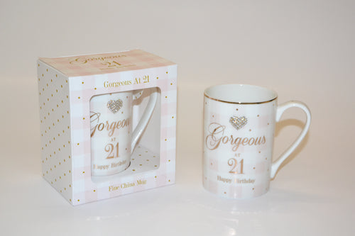 'Gorgeous at 21 Happy Birthday' Mug