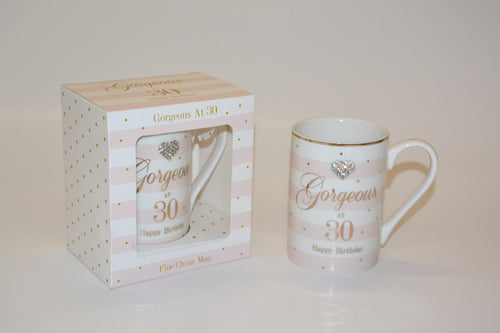 'Gorgeous at 30 Happy Birthday' Mug