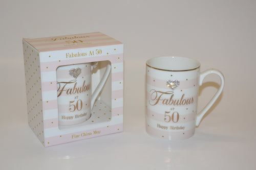 'Fabulous at 50 Happy Birthday' Mug