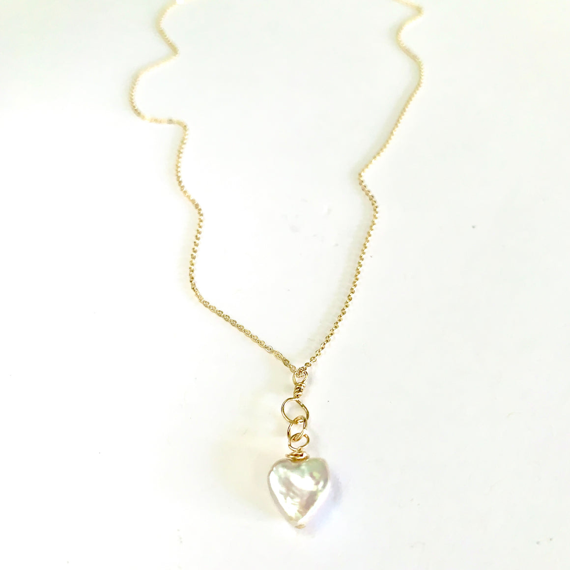 Eden pearl heart necklace