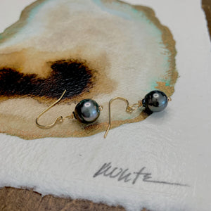 Brianna Tahitian pearl drop earrings