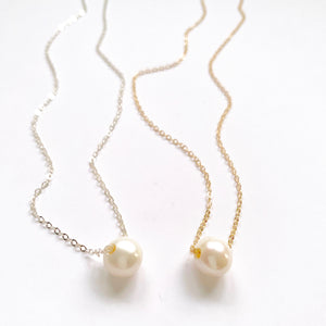Norma Round Sliding Freshwater Pearl Necklace