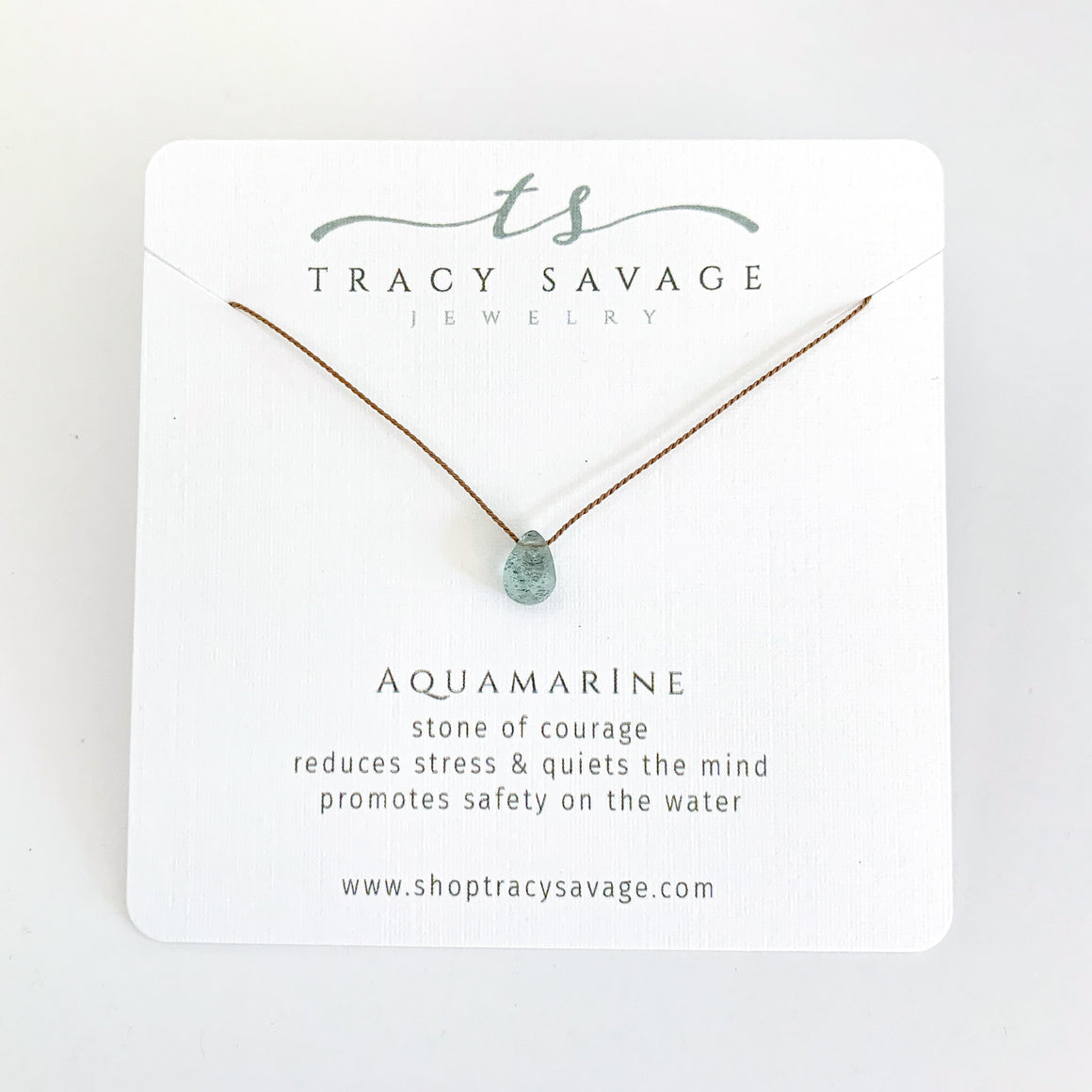 Aquamarine Silk Necklace