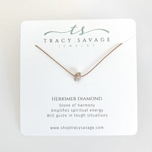 Herkimer Diamond Silk Necklace