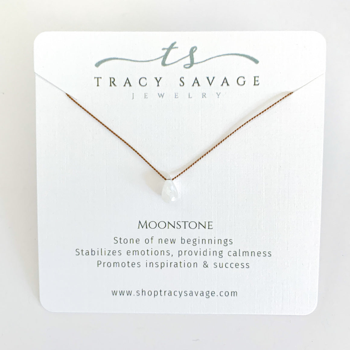 Moonstone Silk Necklace
