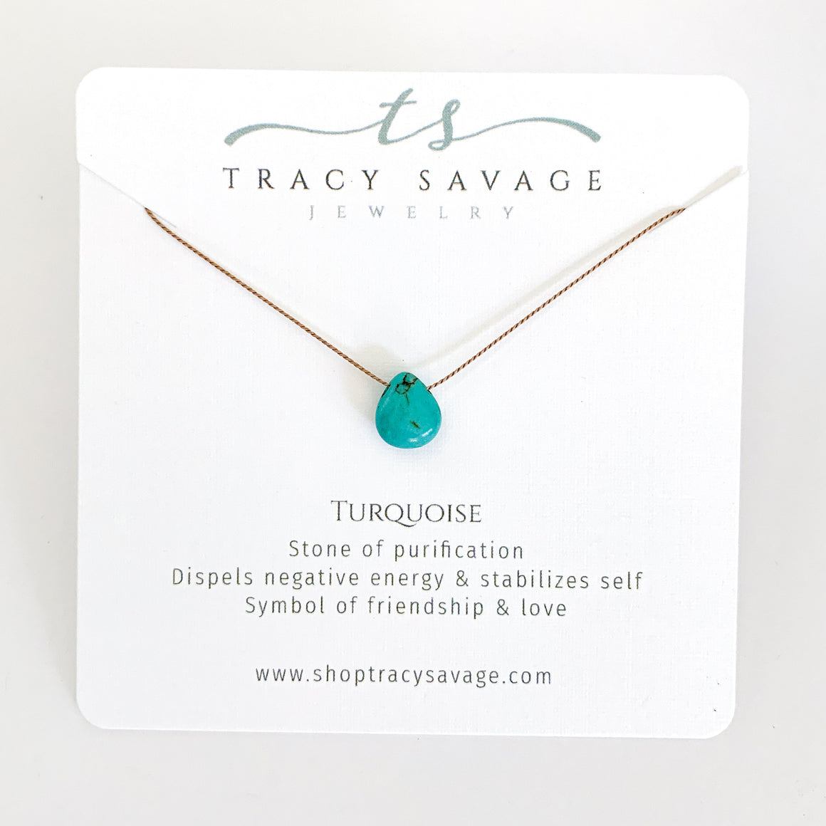 Turquoise Silk Necklace