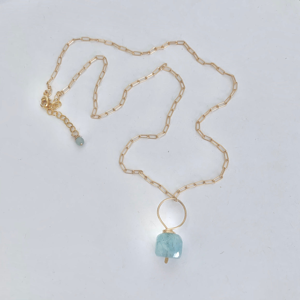 Jen aquamarine nugget necklace