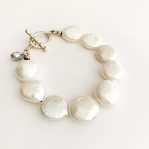 Frances Large Fresheater Coin Pearl Bracelet