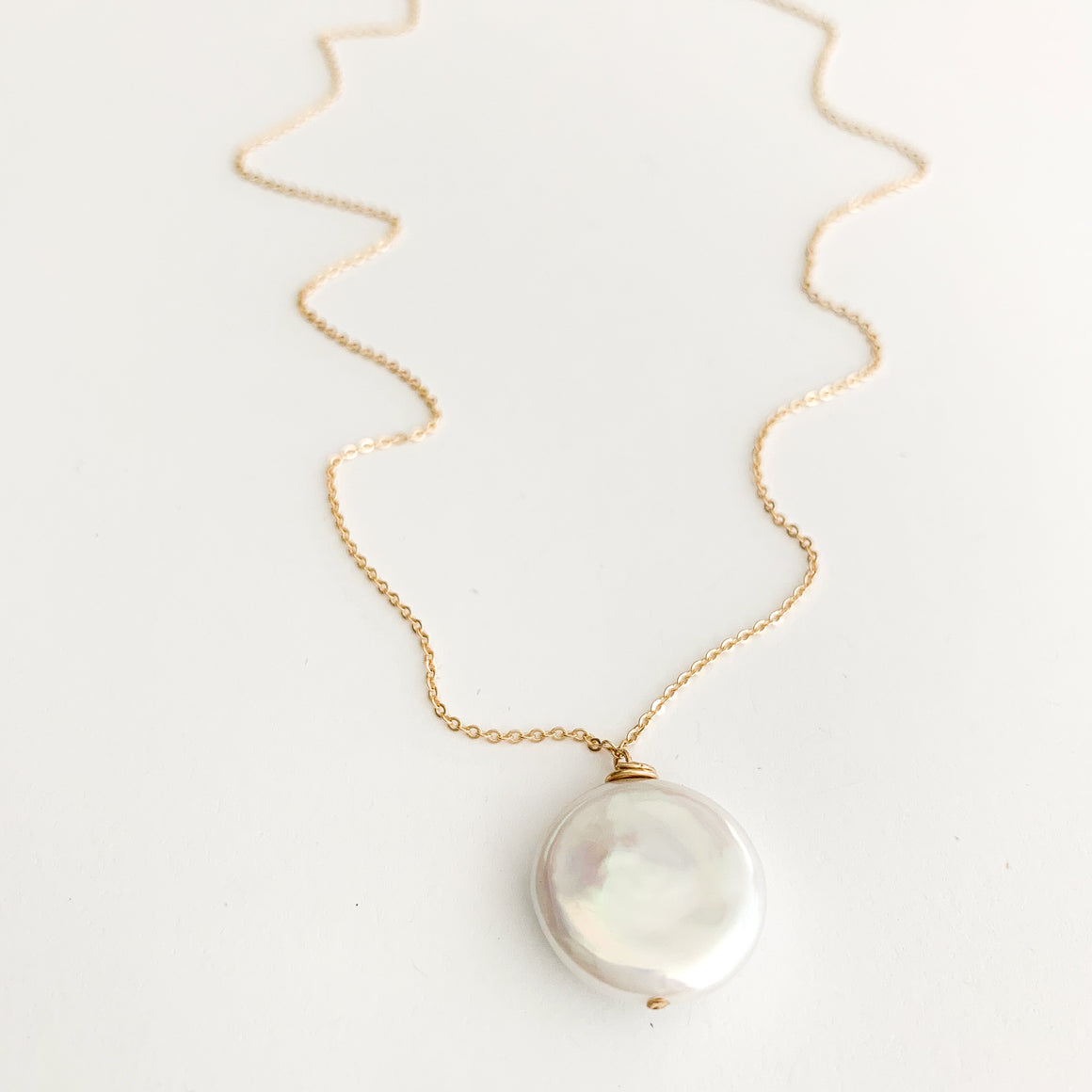 Helen XL Coin Pearl Drop Necklace