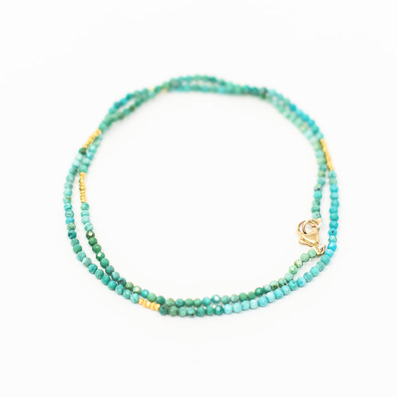 Jamie Petite Turquoise & Gold Necklace
