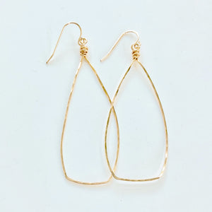 Nora Hammered Hoop Earring