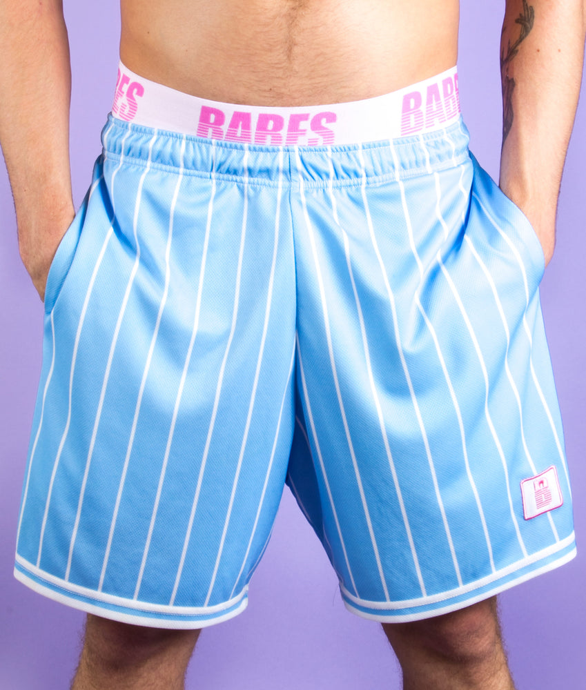 BABES BLUE AWAY BASKETBALL SHORTS