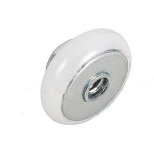 "Shower Door 3/4"" Oval Edge Nylon Ball Bearing Roller With Threaded Hex Hub"