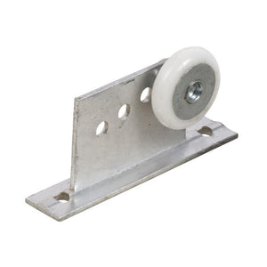 "Shower Door 7/8"" Oval Edge Nylon Roller and Bracket"