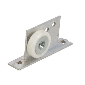 "Shower Door 7/8"" Flat Edge Nylon Roller and Bracket"