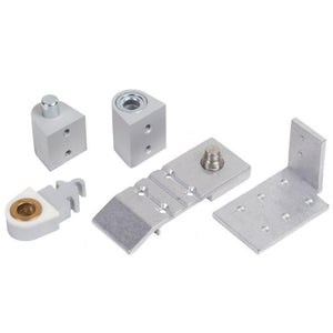 Aldora Style Commercial Door Pivot Set - Right Silver