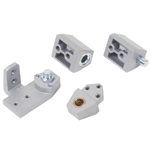 Vistawall Style Commercial Door Pivot Set - Left Silver