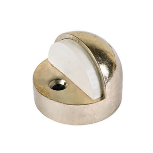 "Dome Floor Mounted High Profile 1/2"" Base Door Stop - Brass"
