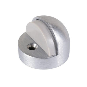 "Dome Floor Mounted High Profile 1/2"" Base Door Stop - Brushed Aluminum"