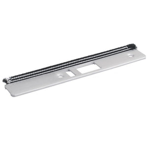 Radius Face Plate With Weatherstrip for Commercial Door Latch Lock - Left