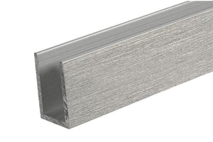 "U-Channel - 1"" x 1-1/2"" x 1/8"" - Brushed Stainless"