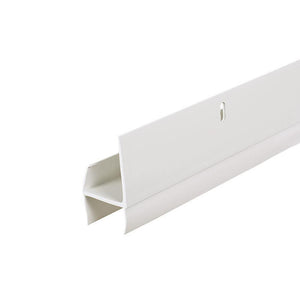 L-Shaped Expander Door Sweep for AluminArt Storm Doors - White