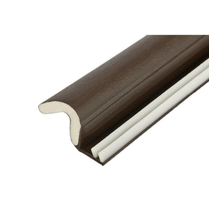 Foam-Tite Kerf Mounted Weatherseal - Brown - 85'' Length