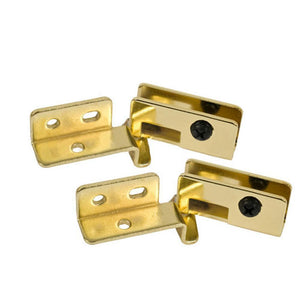 Showcase Glass Door Hinge - Brass