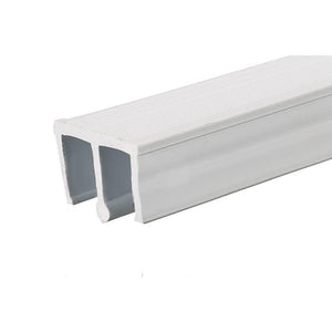 "Showcase Upper Track for Sliding Glass or Wood Door Panels - For 3/16"" Thick Material"
