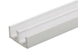 "Showcase lower Track for Sliding Glass or Wood Door Panels - For 1/4""; Thick Material"