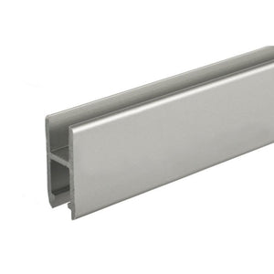 Showcase Aluminum H-Bar Extrusion - Clear Anodized