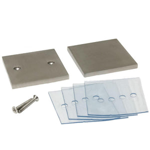 Square In-line Mall Clip - Brushed Stainless