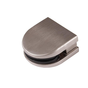 Glass Round Top Clamps - Brushed Nickel