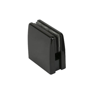 Glass Square Top Clamps - Gloss Black