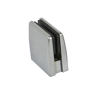 Glass Clamps (Square Top) (Brushed Stainless)