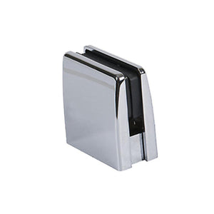 Glass Square Top Clamps - Polished Chrome