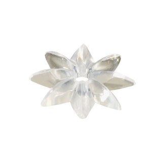 "Mirror 1-1/8"" Clear Plastic Star Rosette"