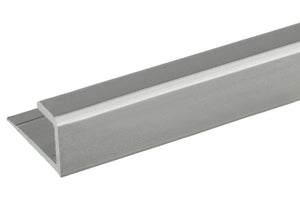 "Mirror 5/16"" ""J"" Channel - Bottom - Brushed Nickel"