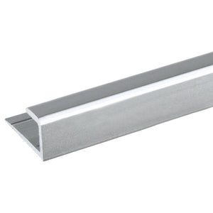 "Mirror 5/16"" ""J"" Channel - Bottom - Satin Aluminum"