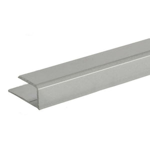 "Mirror 5/16"" ""J"" Channel - Top - Brushed Nickel"