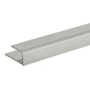 "Mirror 5/16"" ""J"" Channel - Top - Satin Aluminum"