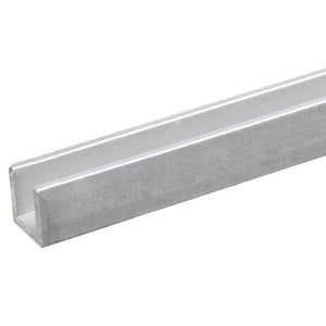"Shower Door 7/16"" Fixed Panel Deep U-Channel - Chrome"