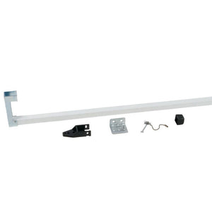 Security Bar for Sliding Glass Doors - White