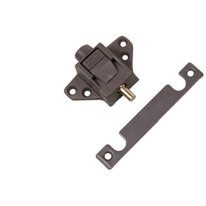 Truth Hardware Sliding Glass Patio Door Lock & Keeper - Brown