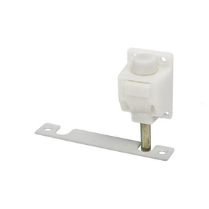 Truth Hardware Foot Operated Patio Door Lock and Keeper - White