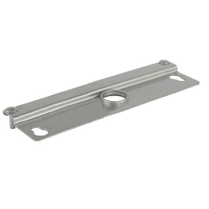 "Security 12"" Heavy Gauge Steel Latch Guard for Flush Mount Single or Paired Doors - Aluminum"