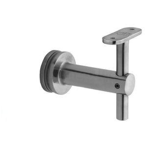Bracket For Square Profile Handrail (Round Profile, Height Adjustable, Glass Mount)