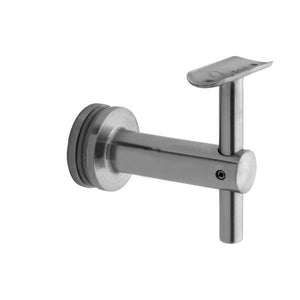 Bracket For Round Profile Handrail (Round Profile, Height Adjustable, Glass Mount) (1-1/2'' Diameter)